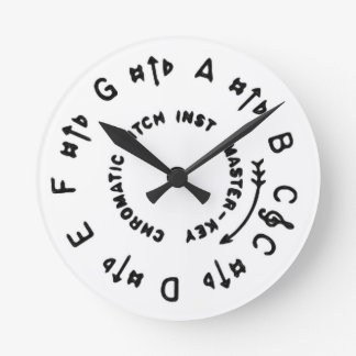 White Pitch Pipe Round Clock