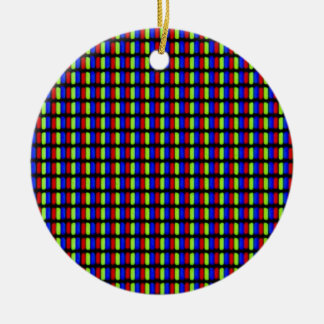 White Pixels Ceramic Ornament
