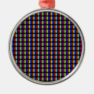 White Pixels Metal Ornament