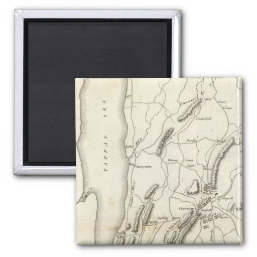 White Plains and Weapons 2 Inch Square Magnet