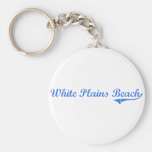 White Plains Beach Hawaii Classic Design Key Chain