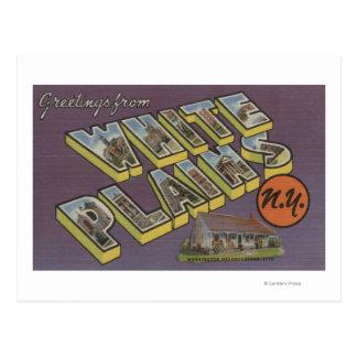 White Plains, Nueva York - escenas grandes de la Postal
