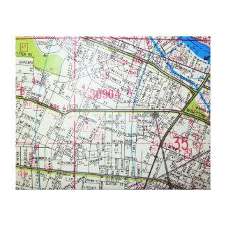 WHITE PLAINS, NY Vintage Map Canvas Print