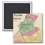 White Plains, Scarsdale towns 2 Inch Square Magnet