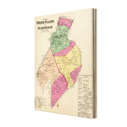 White Plains, Scarsdale towns Canvas Print