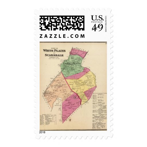 White Plains, Scarsdale towns Postage