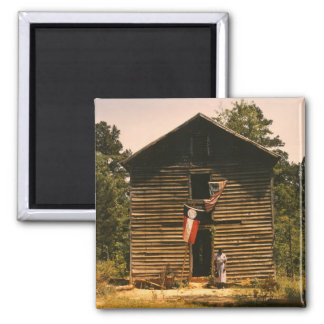 White Plains Woman, 1940s 2 Inch Square Magnet