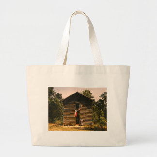 White Plains Woman, 1940s Large Tote Bag