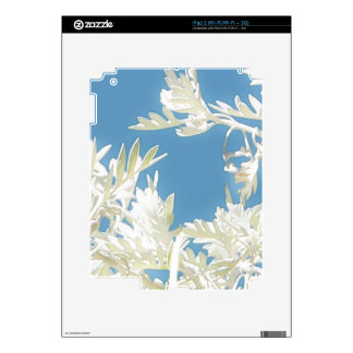 White Plants over Blue Sky Decals For The iPad 2