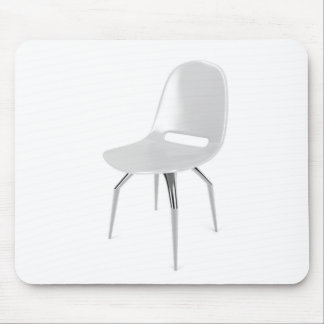 White plastic chair mouse pad