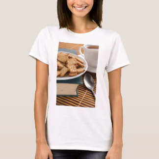 White plate with cookies on the old book T-Shirt