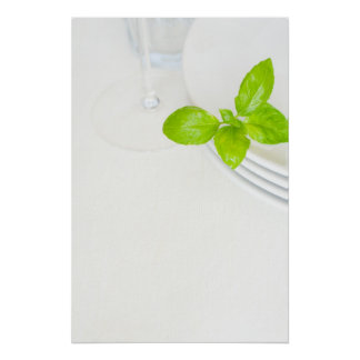 White Plates on the Table Poster