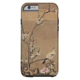 White Plum Blossoms and Yellow Birds by Kurokawa K Tough iPhone 6 Case