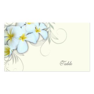 White Plumeria Blank Escort Cards