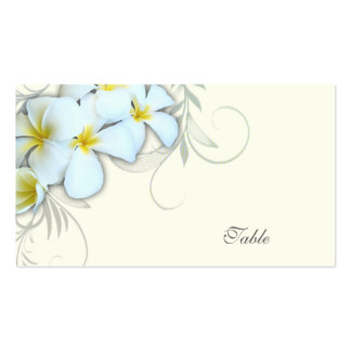 White Plumeria Blank Escort Cards Double-Sided Standard Business Cards (Pack Of 100)