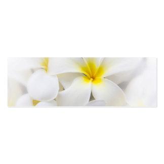 White Plumeria Flower Frangipani Floral Flowers Business Card Template