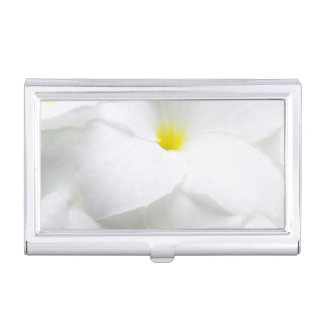 White Plumeria Frangipani Hawaiian Tropical Flower Case For Business Cards