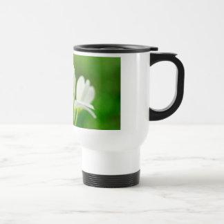 White Plumeria or Frangipani Travel Mug