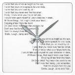 White Poets Choice Wall Clock