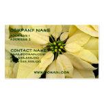 White Poinsettia Business Card