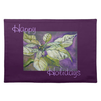 White Poinsettia Holiday Placemat