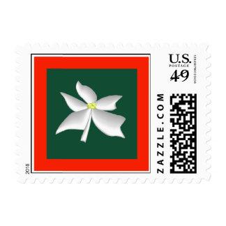 White Poinsettia Small Stamp