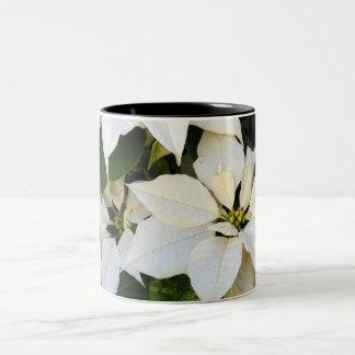 White Poinsettias Coffee Mug