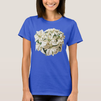 White Poinsettias Tee