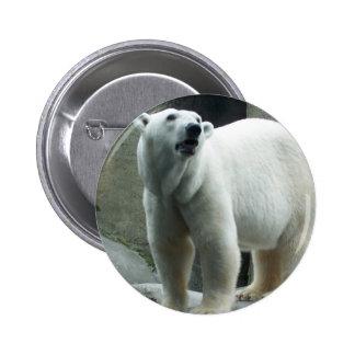 White Polar Bear Button