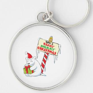 White Polar Bear Christmas North Pole Custom Bags Keychains