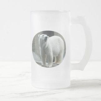White Polar Bear Frosted Mug