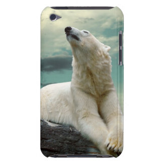 White Polar Bear Hunter on rock Barely There iPod Cover