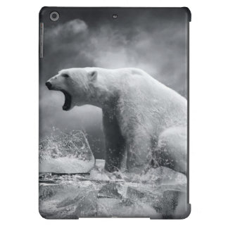 White Polar Bear Hunter on the Ice in water Case For iPad Air