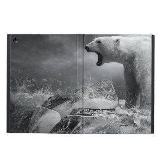 White Polar Bear Hunter on the Ice in water Cover For iPad Air