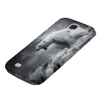 White Polar Bear Hunter on the Ice in water Galaxy S4 Cover