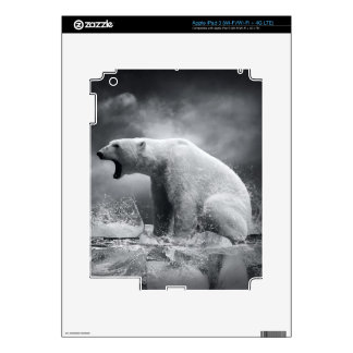 White Polar Bear Hunter on the Ice in water Skin For iPad 3