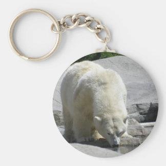 white polar bear keychain