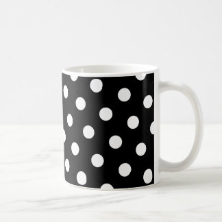 White Polka Dot Coffee Mug