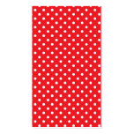 White polka dot on red background bookmark business cards
