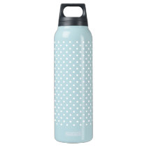 White Polka Dot Pattern Insulated Water Bottle