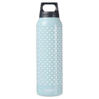 White Polka Dot Pattern Insulated Water Bottle