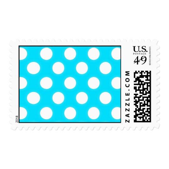 White polka Dot Postage Template