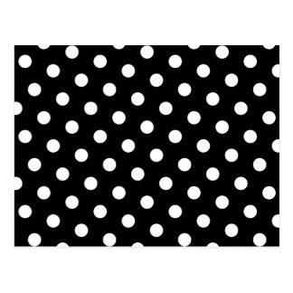 White Polka Dot Postcard