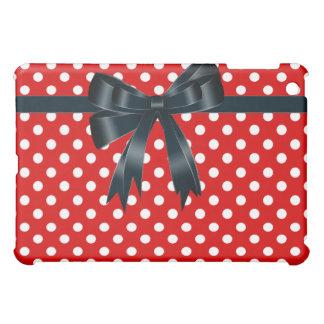 White Polka Dot Red  iPad Mini Covers