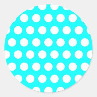 White Polka Dot Sticker