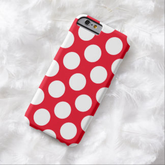 White polka dots barely there iPhone 6 case