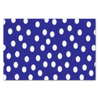 White Polka Dots Blue Tissue Paper