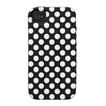 White Polka Dots Case Vibe iPhone 4 Cover