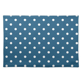 White polka-dots cloth placemat