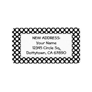 White Polka Dots Custom New Address Label